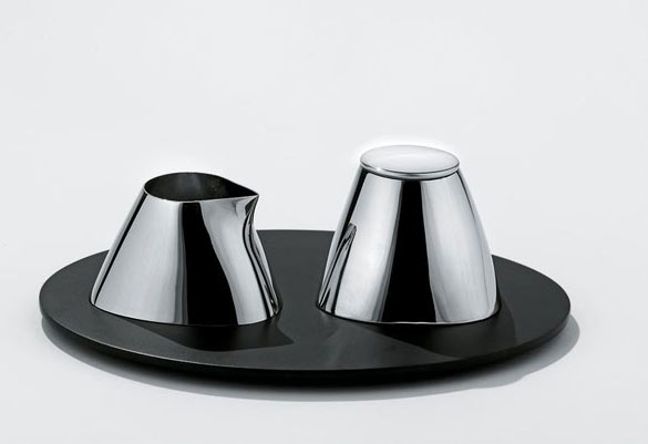 Colombina collection creamer and sugar bowl by Doriana and Massimiliano Fuksas:alessi Fall/winter 2007