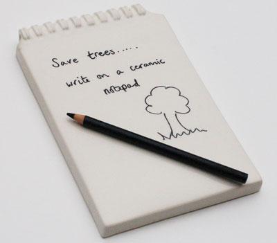 Ceramic Notepad, designed by Helen Johannessen, manufactured by Yoyo Ceramics. Photo: Mathew Wilson