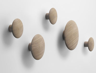 Dots coat hangers, designed by Tveit&Tornøe, manufactured by Muuto