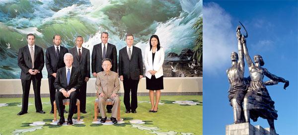 Kim Jong II and Bill Clinton