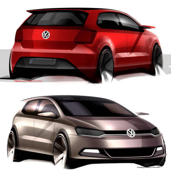 VW Polo Design Sketch