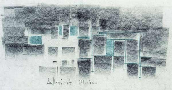 Peter Zumthor Thermal Baths Vals sketch