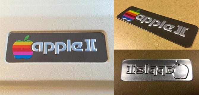 Apple II Logo Plate