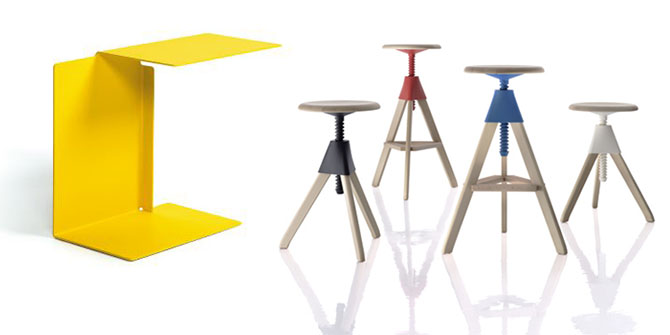 DIANA Table and TOM & JERRY Stool Konstantin Grcic