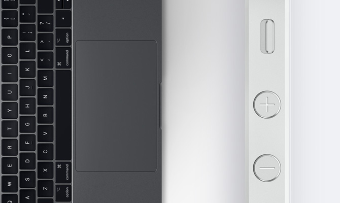 MacBook Pro Touchpad iPhone 5s sidekey