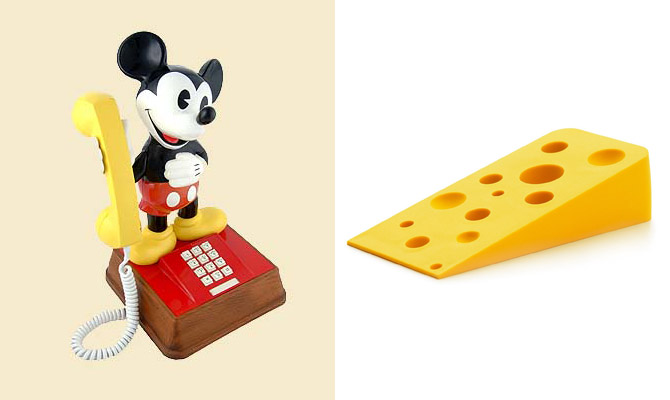 Mickey Mouse Phone 1976 & Swiss Door Wedge by Andrew Stafford