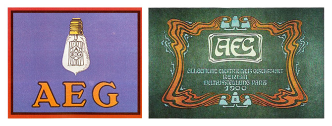 Peter Behrens and Otto Eckmann AEG Poster