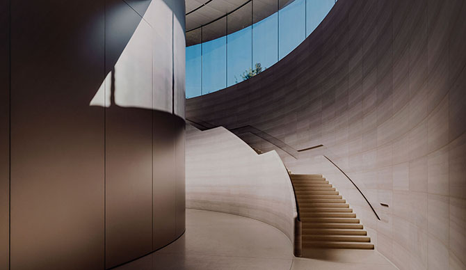 Staircase in Steve Jobs Theater Wallpaper