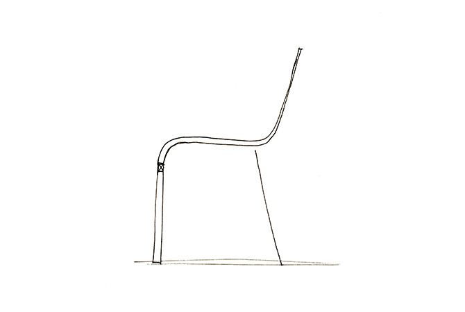 Vitra 03 Chair Maarten Van Severen sketch