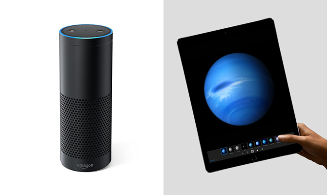 amazon echo apple ipad pro