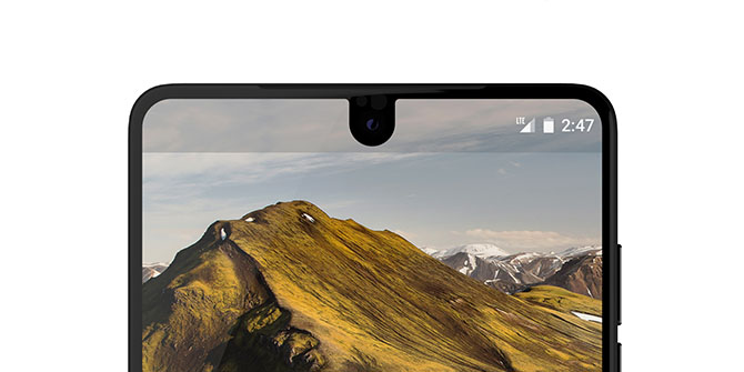 essential phone display