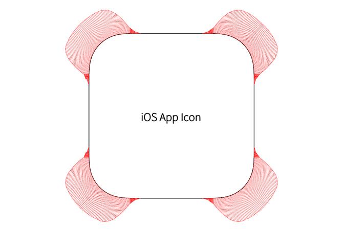 iOS icon rounded corner App Icon