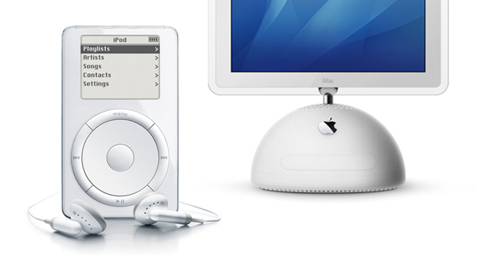 iPod 1st gen and iMac G4
