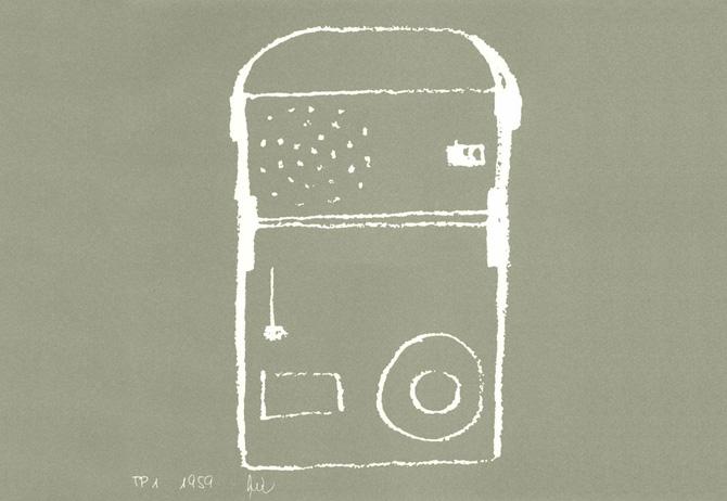 Dieter Rams TP1 Sketch