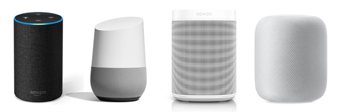 Echo 2 Google Home Sonos HomePod