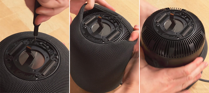 HomePod Fabric Peel Off