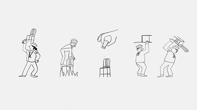 Jean and Nicolas Jullien create playful animations to illustrate the story of Emeco